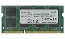 2-Power 8GB PC3-8500S 1066MHz DDR3 CL7 SoDIMM 2Rx8 (DOŽIVOTNÍ ZÁRUKA)
